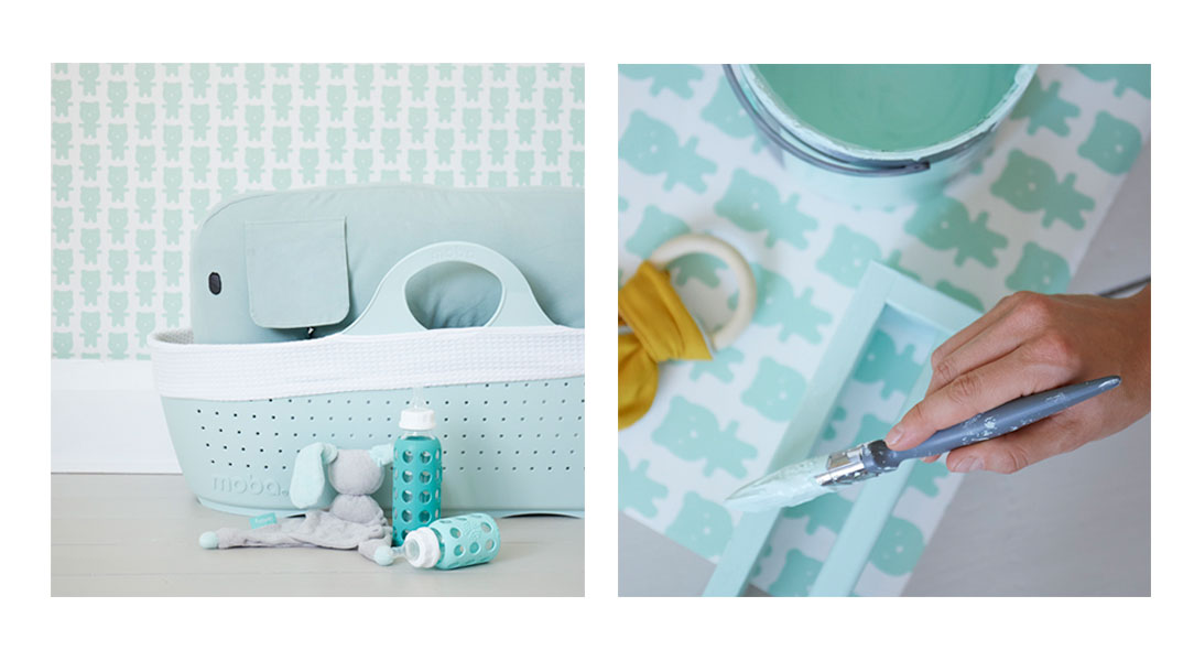 Paint your nursery in mint tones