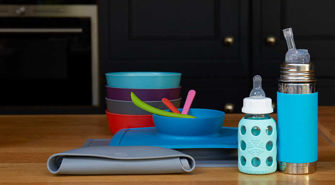 Bring in bright and sustainable plates to add colour to the kitchen
