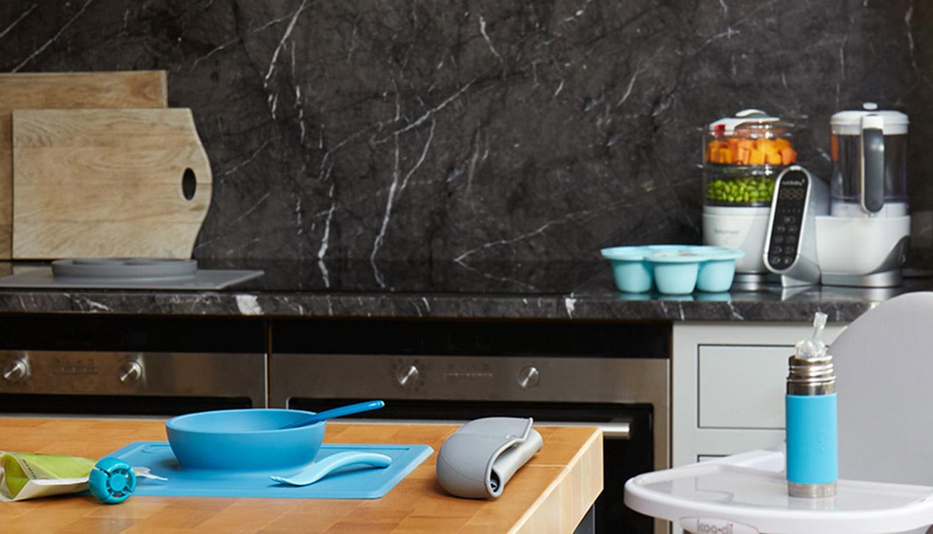 Keep your kitchen stylish while making feeding babies easy