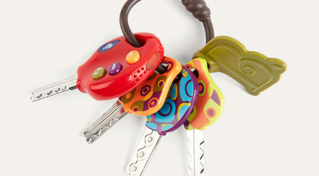 These toy keys from B.Toys are a great kids' gift