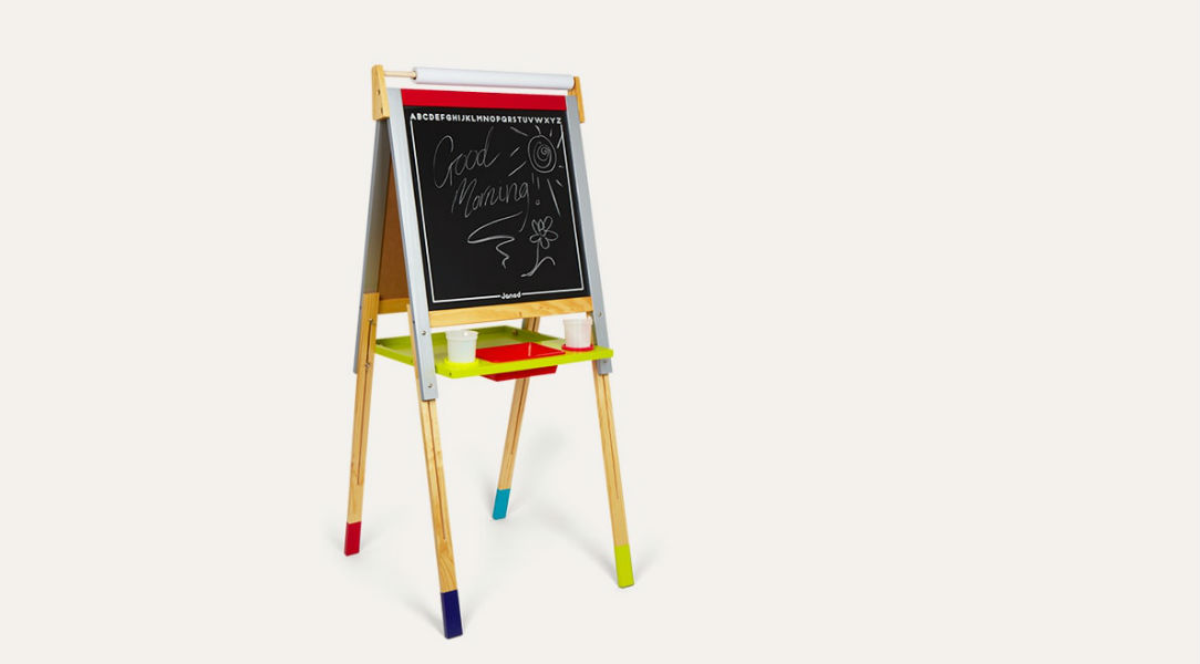 Help kids get crafty and arty with this adjustable kids' easel