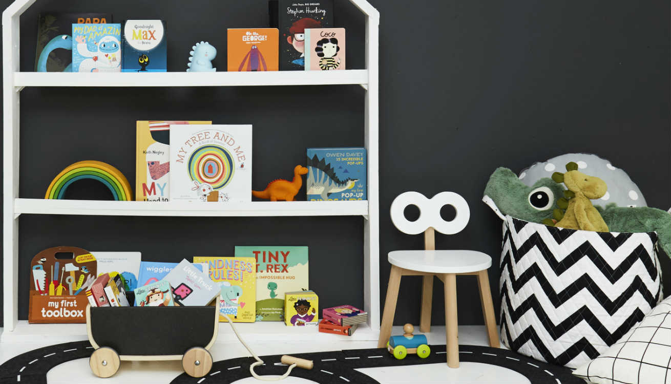 Reading nook styled with products from our read and decor categories.