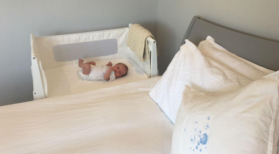 The Snuz SnuzPod 3 keeps baby close for safe co-sleeping