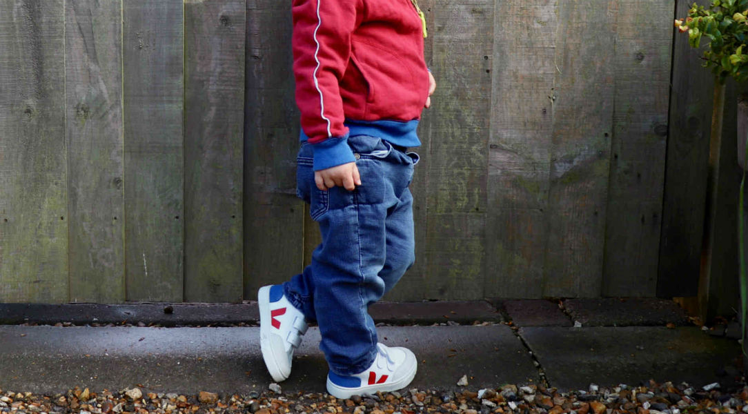 boy in Veja trainers
