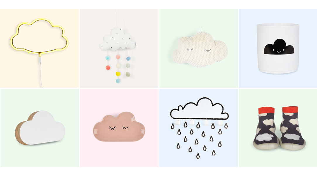 Shop a range of cloud decor and clothes at KIDLY