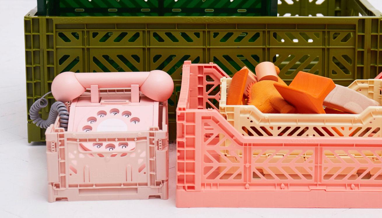 Various toys in Aykasa crates