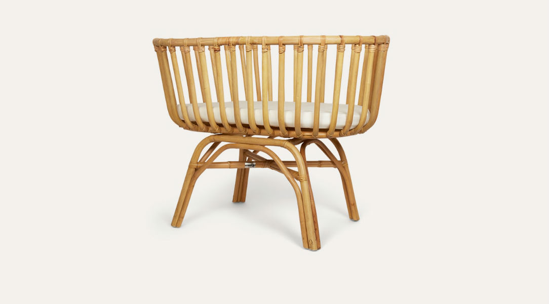 Childhome Rattan Cradle and Mattress