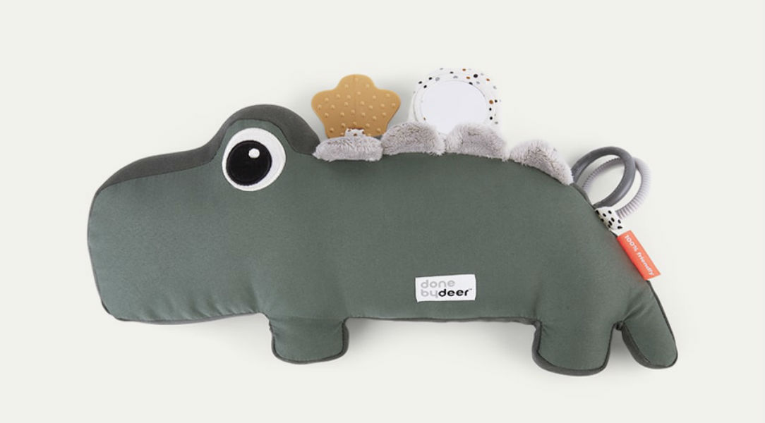Done By Deer Tummy Time Activity Toy Croco
