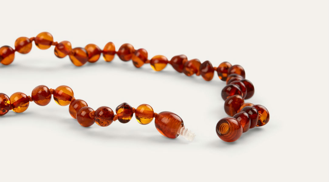 Nibbling Amber Teething Necklace