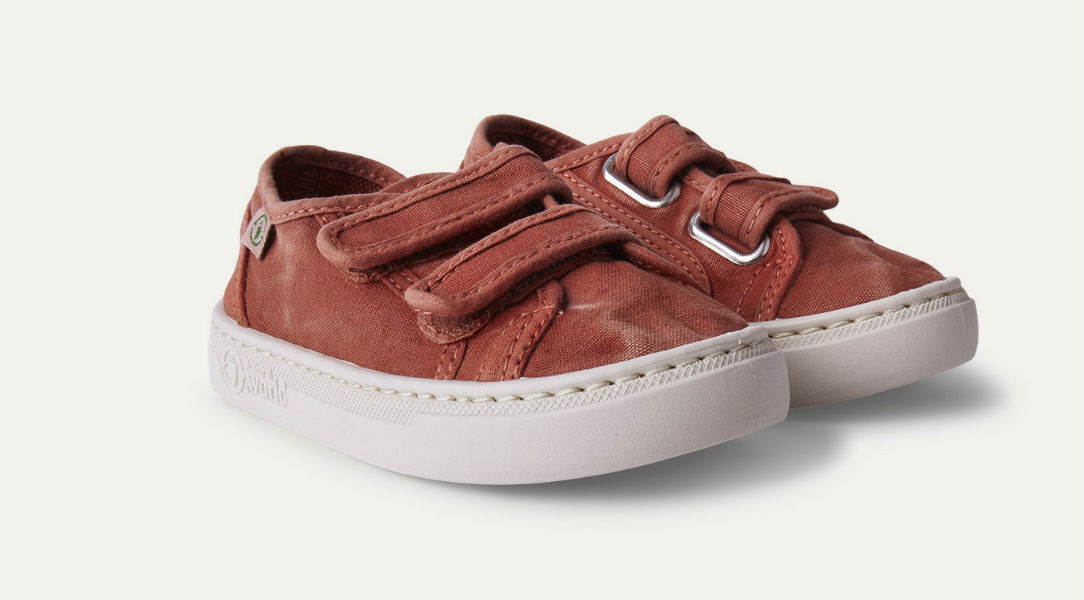 Natural World Velcro Canvas Trainer
