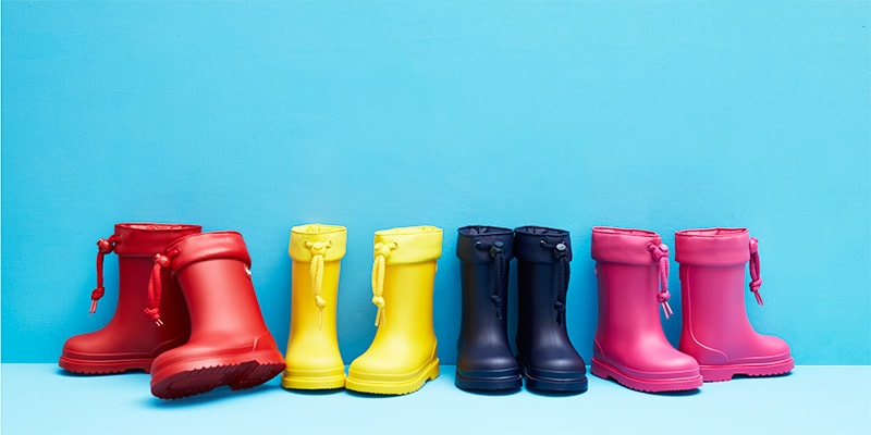 Colourful wellies