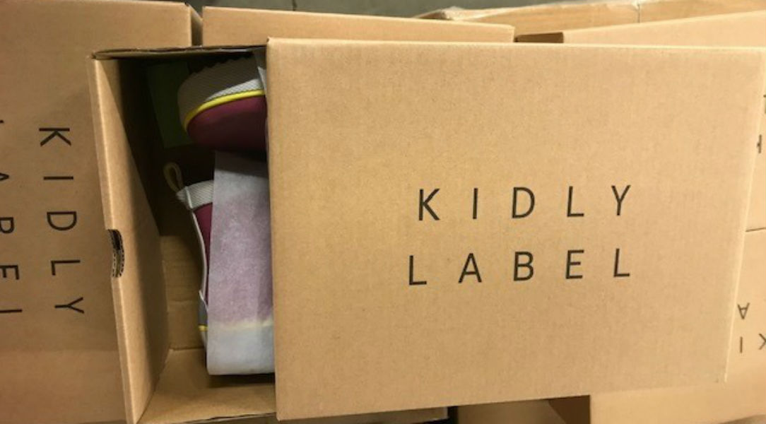 KIDLY Label boots in box