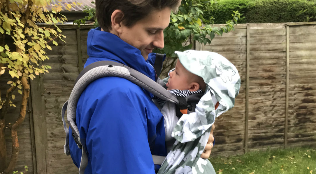 Laurence and Wilf testing out the Bundlebean raincover
