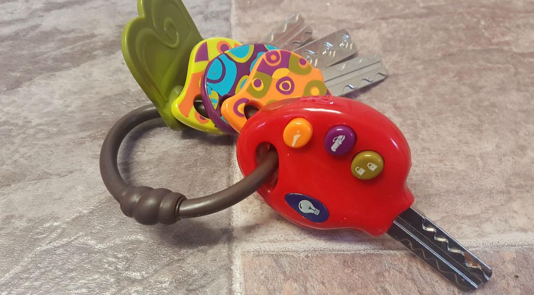 Start pretend play with the B. Toys Luckeys Play keys