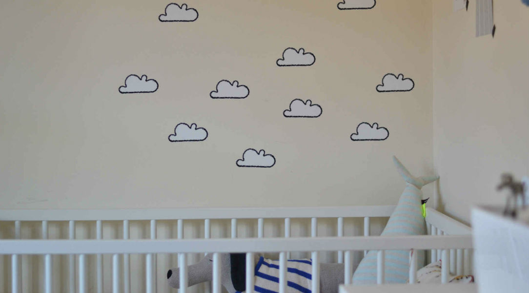 Arlo loves his Tresxics White Cloud Wall Sticker decor