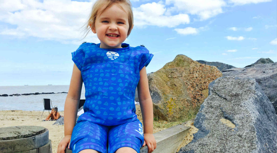 Elsa in her Orby Jetsuit