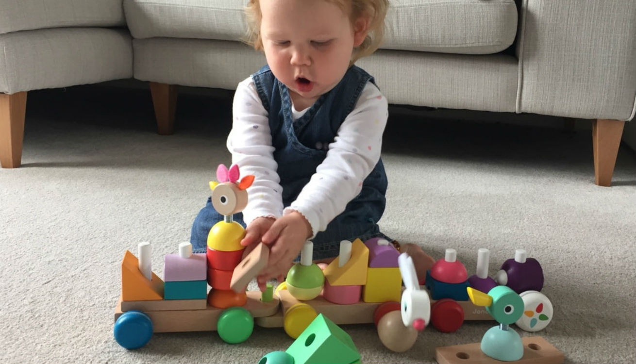 The Janod wooden train is a great pick for a one year old#s birthday present