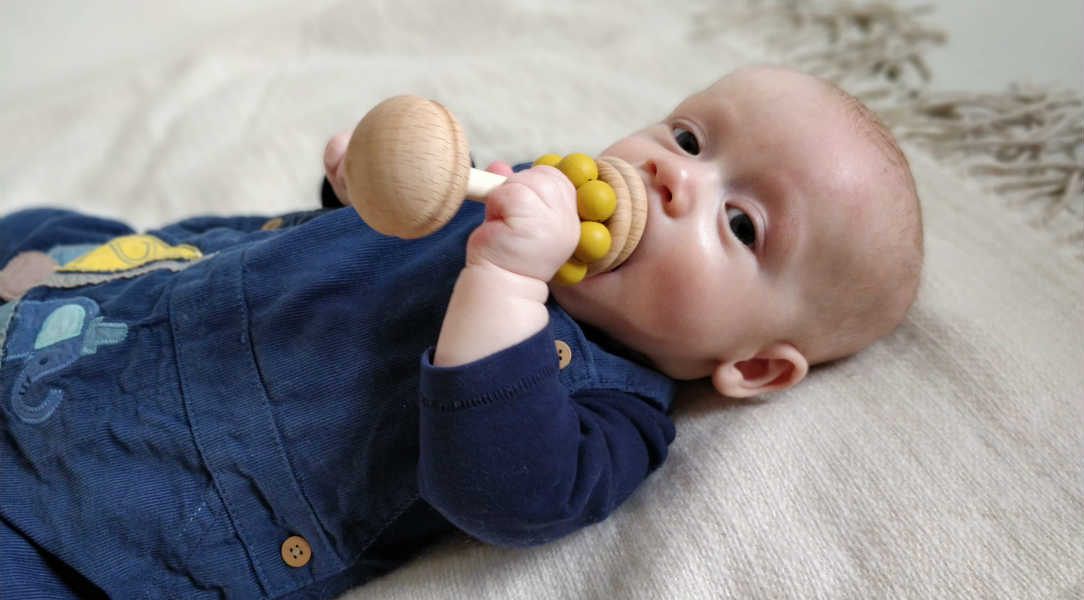 Blossom & Bear Teething Rattle