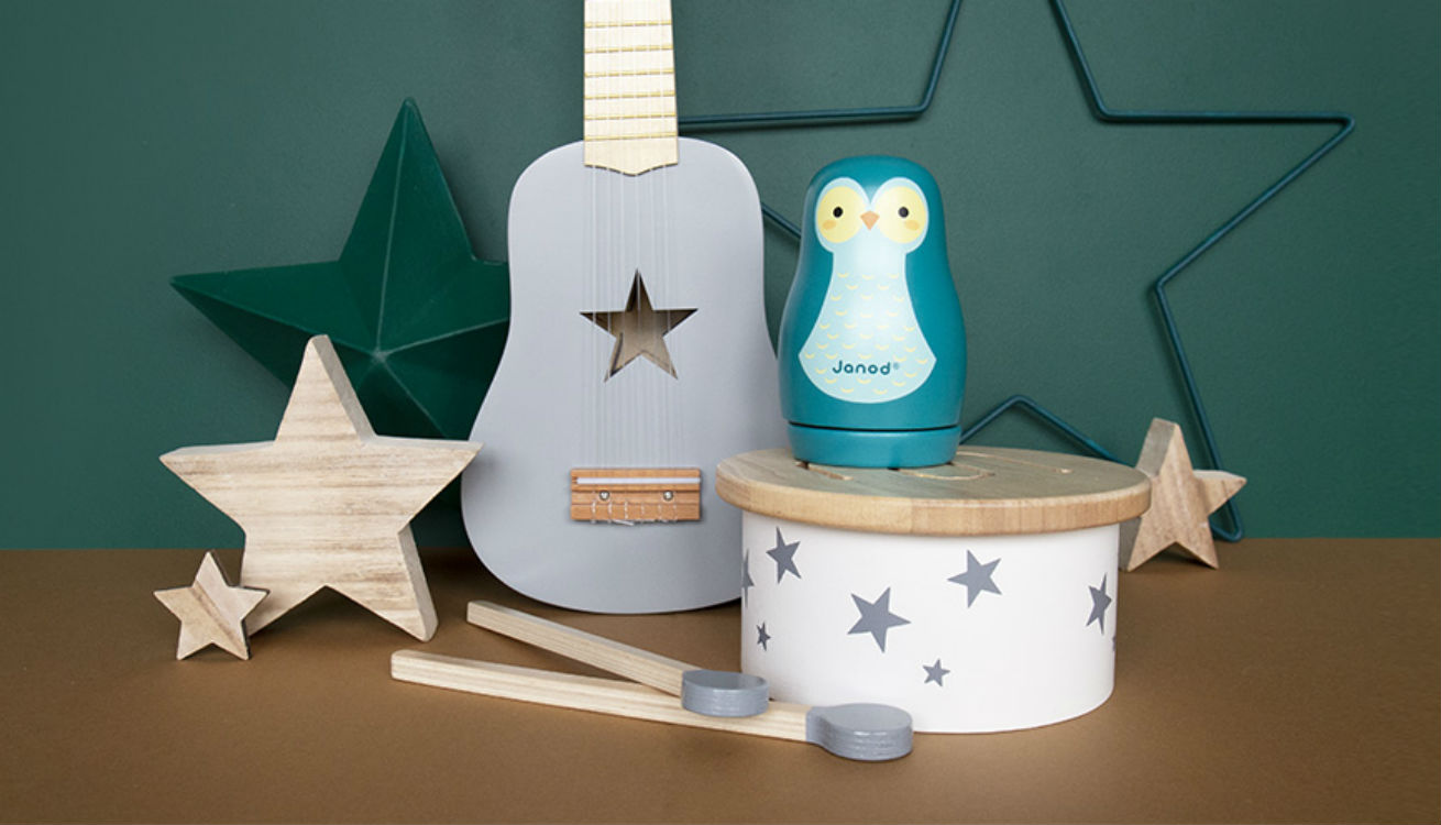 Musical toys from Kid's Concept, Janod and Jabadabado
