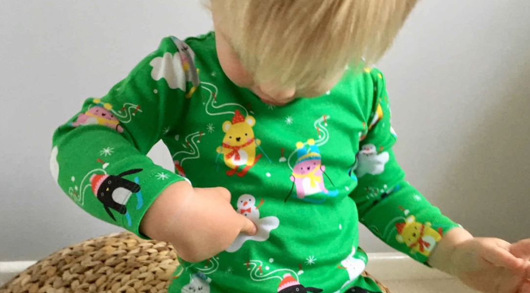 Noah loves all the characters on his Noodoll Pyjamas